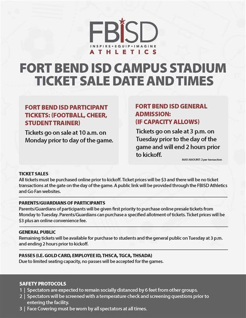 FBISD Campus Tickets