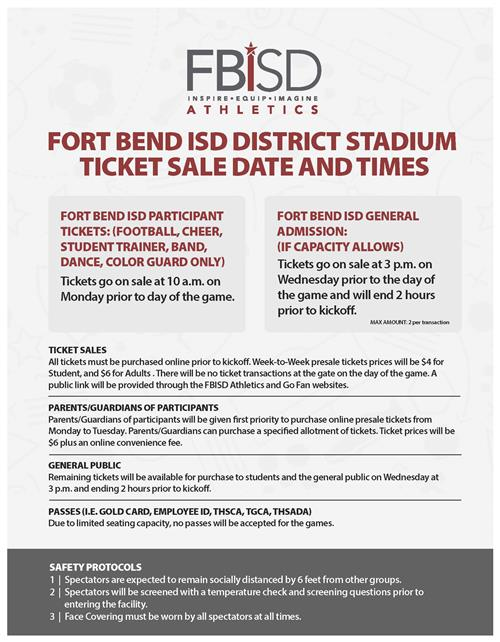 FBISD Tickets