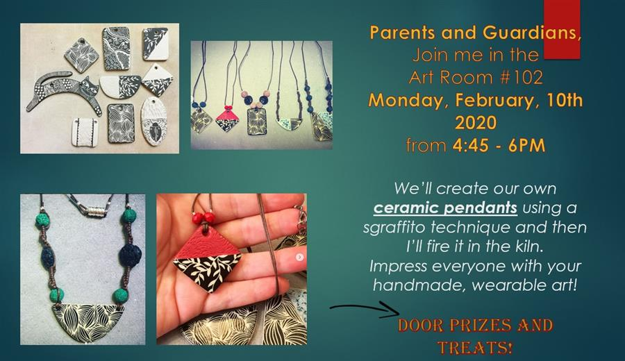 Parent Art Class- Monday, February 10th from 4:45 - 6 PM