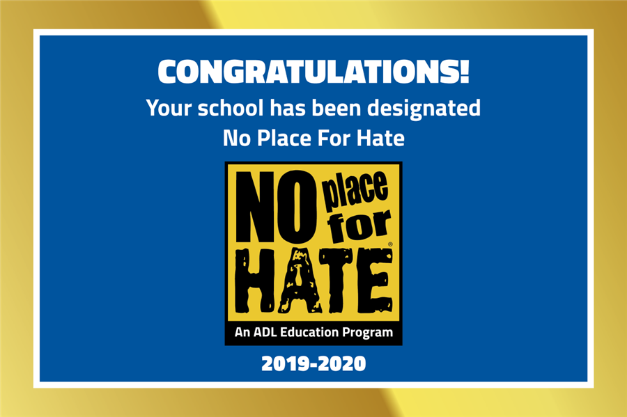 No Place for Hate(R) Designation