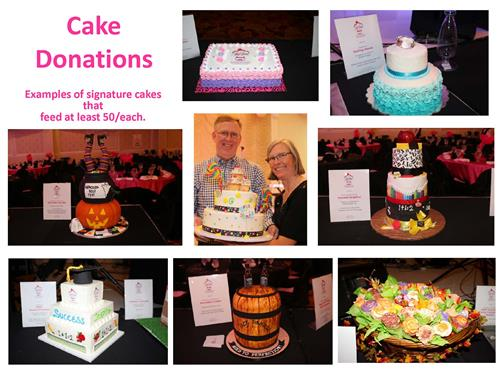 Photos of Cake Donations