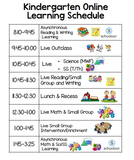 Here is our Online Learning Schedule