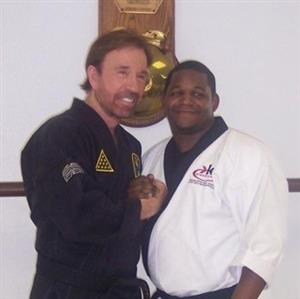 Master Pettway with Chuck Norris