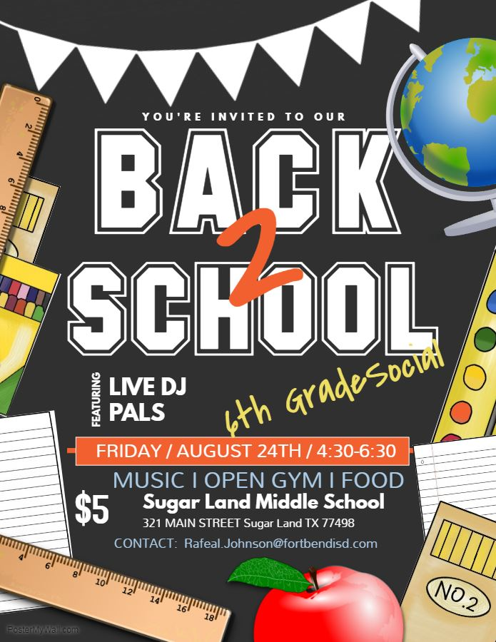 Sixth Grade Back-to-School Social - August 24