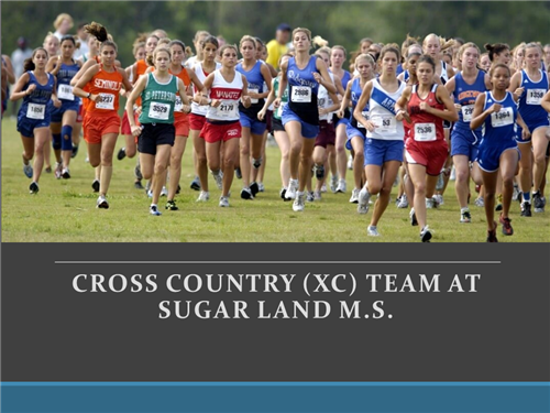 Cross Country (XC) Opportunity