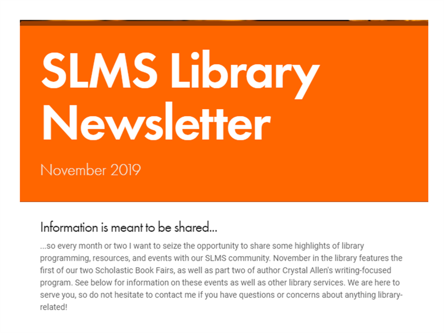 Library Newsletter