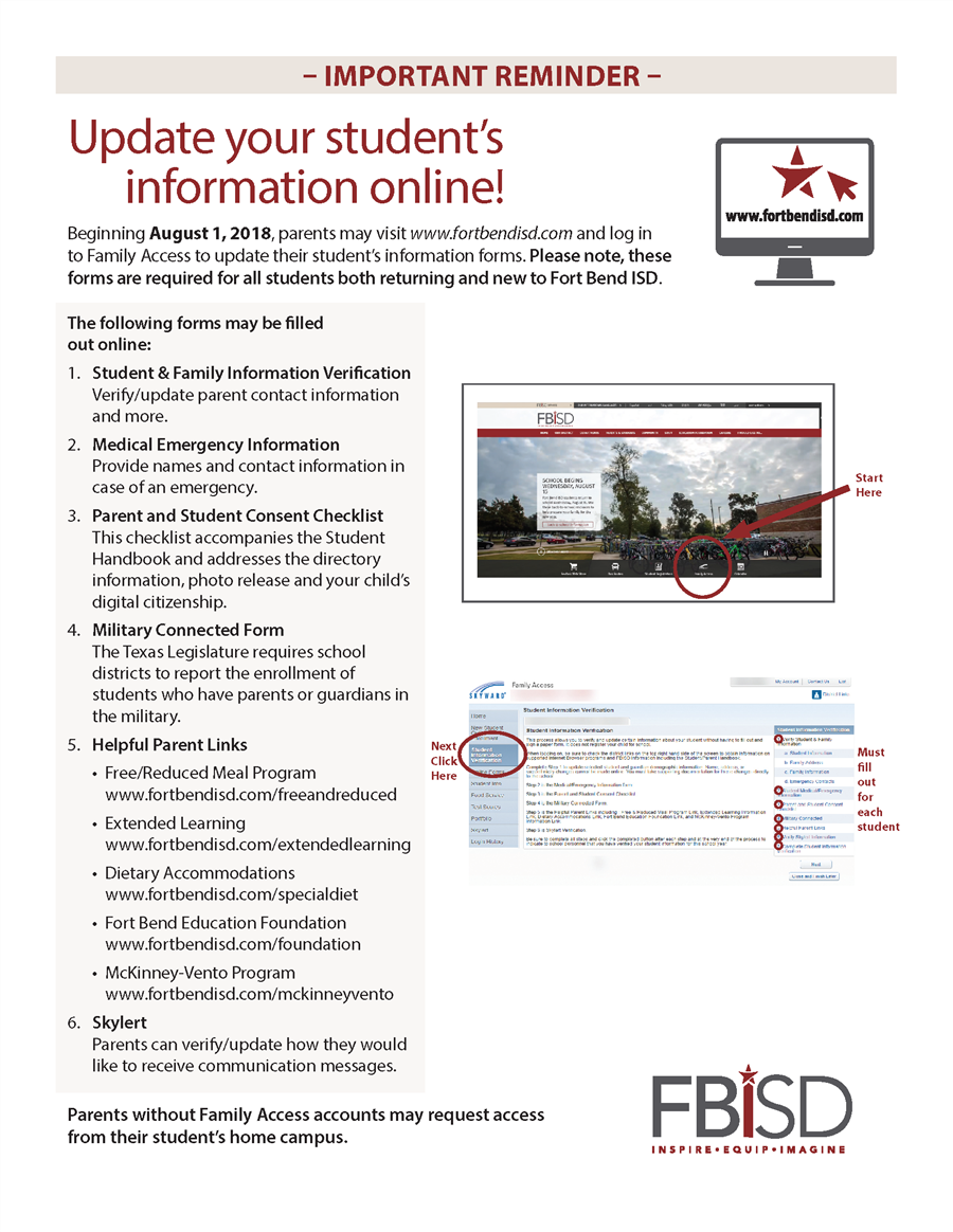 Online Student Information Verification