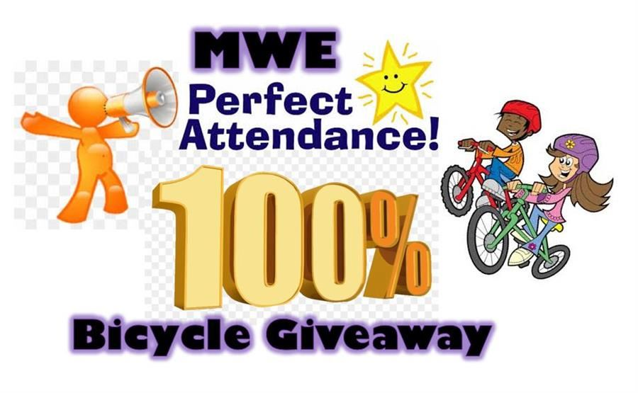 100% Attendance Monthly Bike Giveaway
