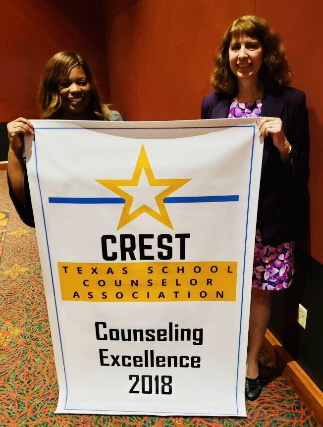 Karen Powell MWE Counselor 2018 CREST Counseling of Excellence Award.