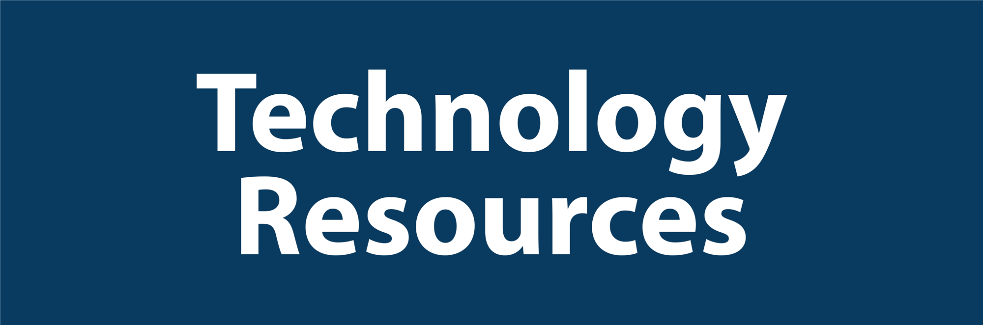 Technology Resources