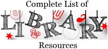 Complete List of Library Resources
