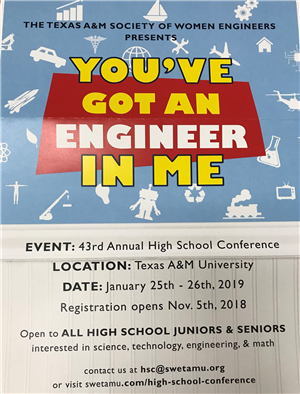 Flyer for HS Conference