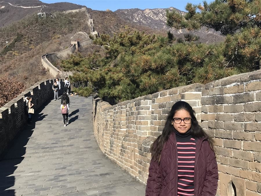 Ananya D's Explores China with Fort Bend ISD