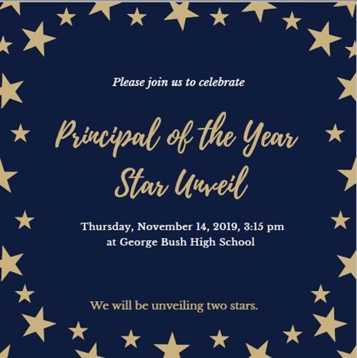 Principal of the Year: Star Unveil