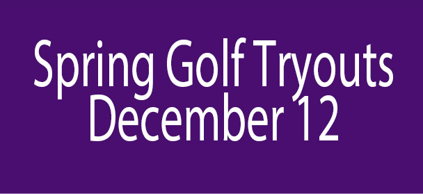 Spring Golf Tryouts