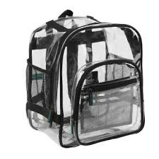 picture of a clear backpack