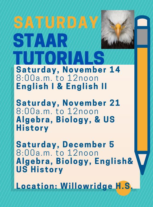SATURDAY STAAR TUTORIALS