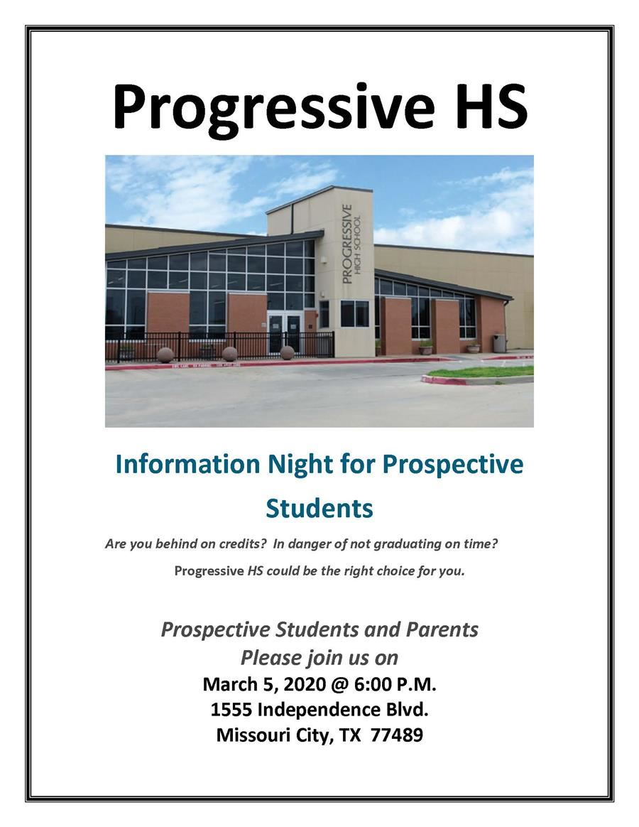 Information Night for Prospective Students
