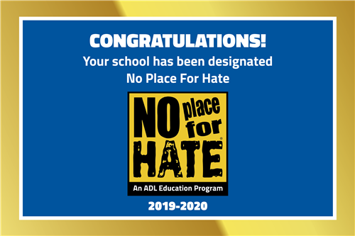 MCMS Selected as a No Place for Hate Campus for the 2019-2020 school year