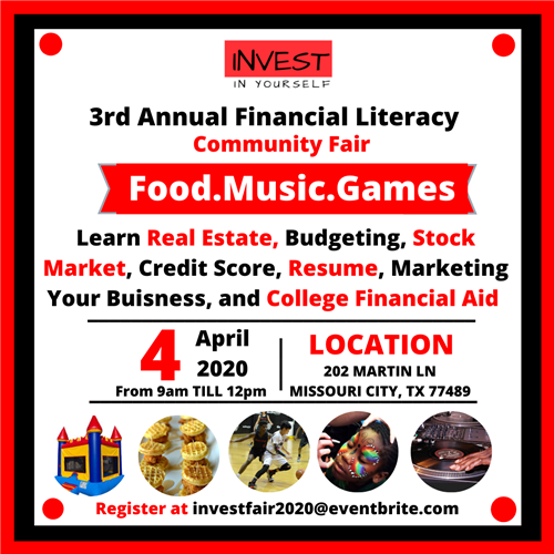 Invest 3rd Annual Financial Literacy Community Fair