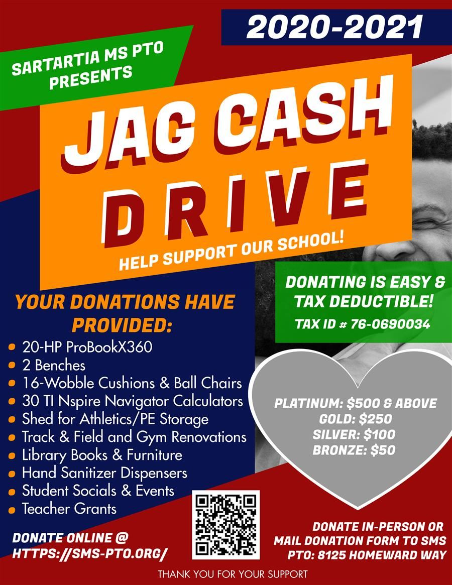 JAG Cash Drive - How to Donate