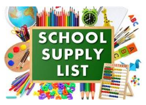 Middle School Supply List 2020-2021