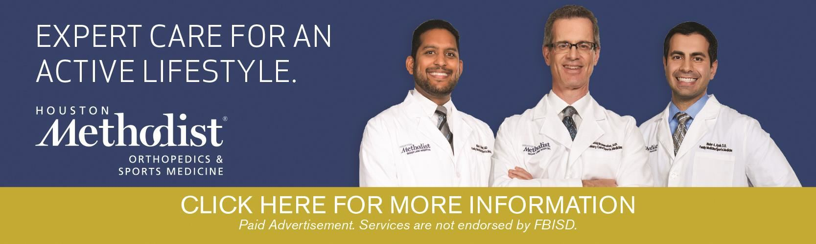 Paid Advertisement by Houston Methodist Orthopedics & Sports Medicine