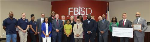 Cenergistic & FBISD group photo during a Board Meeting