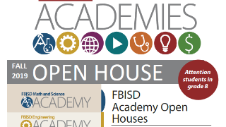 FBISD academy programs to host open house events (10/21/2019)