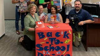 Aetna hosts annual school supply drive to benefit FBISD's Shared Dreams (9/12/2019)