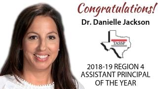Dr. Danielle Jackson named TASSP 2018-19 Region 4 Assistant Principal of the Year