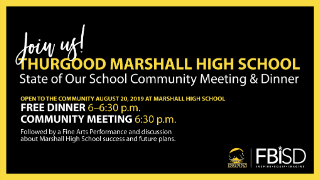 "Marshall High School to host a ""State of Our School"" event, August 20 (8/15/2019)"