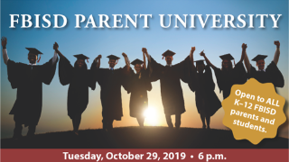 FBISD to host free Parent University on mental health; event takes place Oct. 29 (10/22/2019)