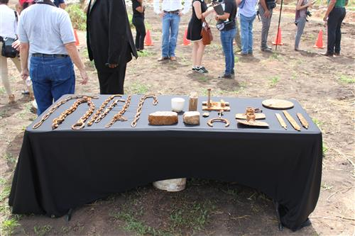 Artifacts found at the site