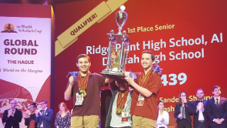 Ridge Point High School students compete at 2019 World Scholar's Cup; two among World Champions team (7/30/2019)