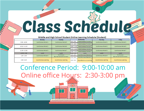 Conference period/class schedule
