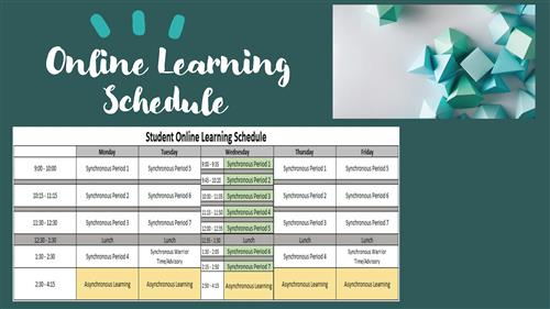 Online Learning Bell Schedule