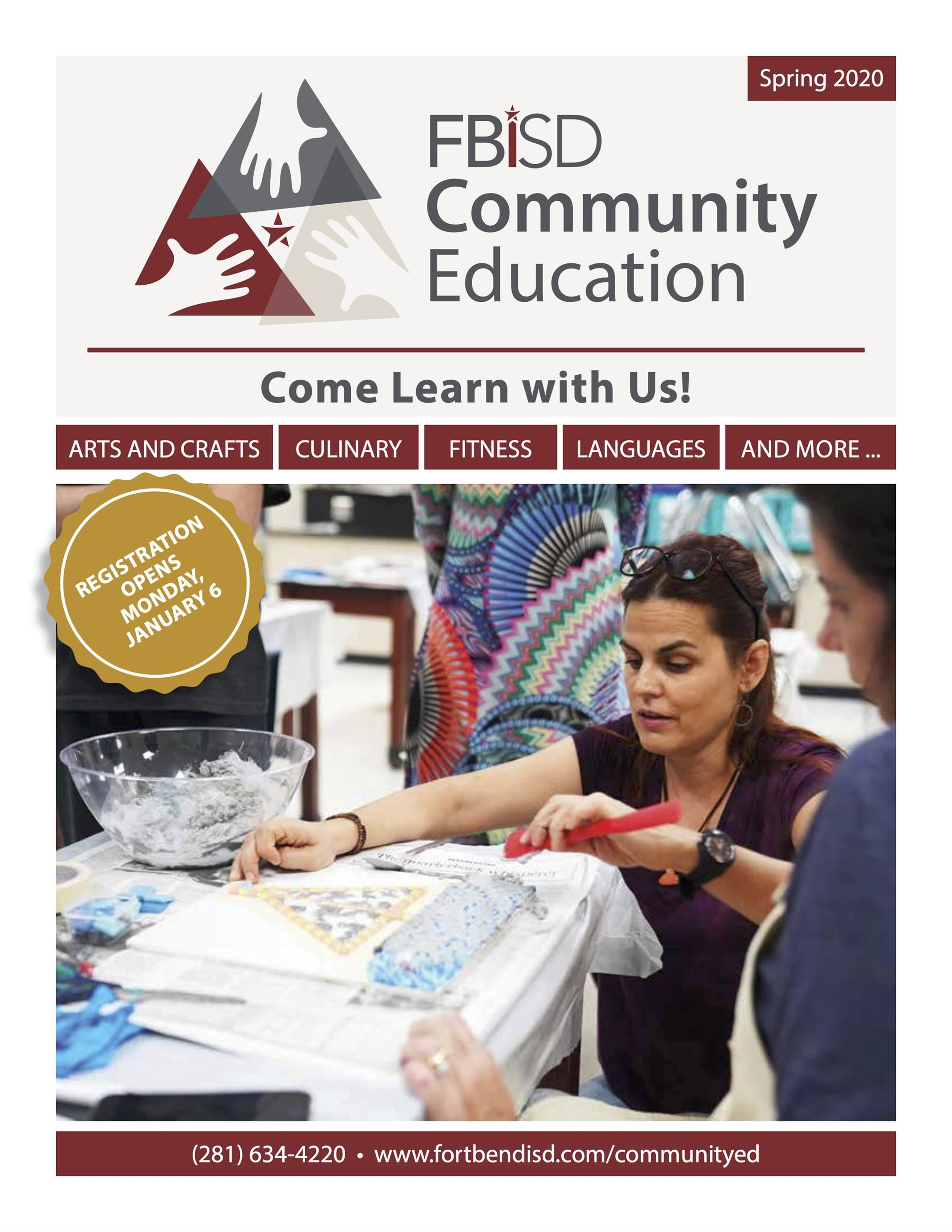Community Education Catalog - Spring 2020
