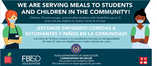 Free Meals to Students and Children in the Community