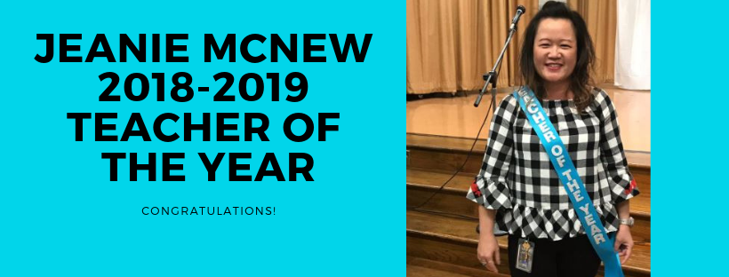 Congratulations to Jeanie McNew - Barrington Place's 2018-2019 Teacher of the Year