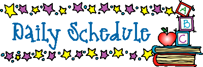 Daily Schedule Title Graphic