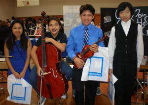 Photo 2 : Shown atBaines Middle School are (from left) eighth-grader ...