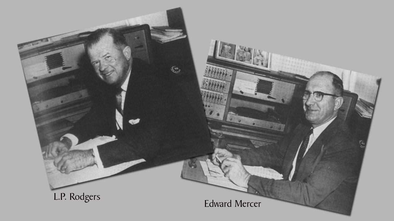 Pictures of Superintendents L.P. Rodgers and Edward Mercer